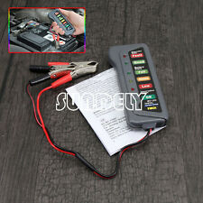 Digital 6 LED Indicators Digital 12V Battery Alternatr Tester For Car Motorbike