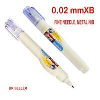 2 x Correction Pen Tippex Shake n Squeeze Fluid Pen Fine Needle metal Nib 0.02mm
