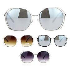 SA106 Retro Oversize Metal Octagonal Butterfly Womens Sunglasses