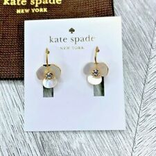 Kate Spade Mother of Pearl Disco Pansy Drop Earrings