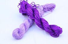 16 COLOURS 30meter Kumihimo Shamballa Braided Nylon Cord Thread 1mm