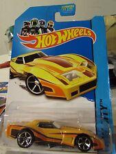 Hot Wheels '76 Greenwood Corvette HW City Yellow
