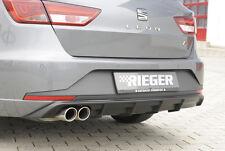 Rieger heckansatz para doble tubo izquierda para Seat Leon 5f FR st/combi