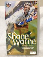 SHANE WARNE ~ THIS IS HIS STORY ~ CRICKET ~ AS NEW VHS VIDEO
