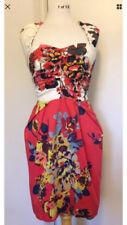 Cotton Blend Sheath Dresses Women with Belt
