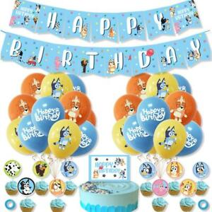Bluey Balloons Bunting Bluey Cake topper cup cake Topper Bluey Party Supplies