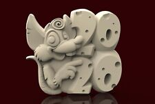 3d STL Model CNC A164 (Mouse_2020) Router Engraver Carving Machine Relief Artcam