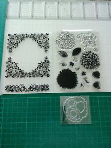 Prägefolder, Silikonstempel und Stanzschablone Blumenrahmen Blume Hortensie