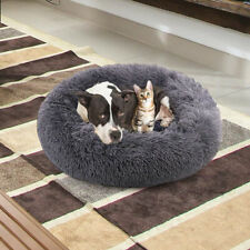 New listing Pet Dog Bed Comfort Donut Cuddler Pillow Round Ultra Soft Washable Cushion Xl Us