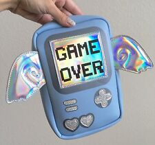 GAME OVER Gamer Video Game Console Hologram Cosplay Crossbody Blue Bag Handbag