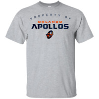 Property Of Orlando Apollos T-Shirt Short Sleeve White-Grey for Men-Women