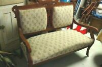 19th Century Eastlake Style Parlor Set - Sofa/settee, Chair