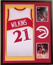 Dominique Wilkins Autographed Custom Framed Atlanta Hawks Jersey PSA/DNA COA