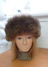 Mint Brown Opposum Opossum Fur Hat Cap Women Woman Size All