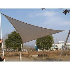 Outsunny Triangle 18' Canopy Sun Sail Shade Garden Cover UV Protector