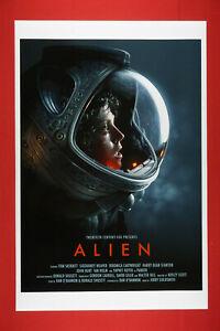 Alien Scary Sigourney Weaver Sci-Fi Extra Terrestrial Movie Art Poster 24X36 ALI