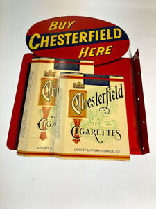Chesterfield Cigarettes double sided Enamel  Sign