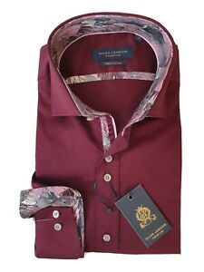 """GUIDE LONDON  LARGE  Chest Measures 42""""  Burgundy Long Sleeve Shirt  RRP £79"""