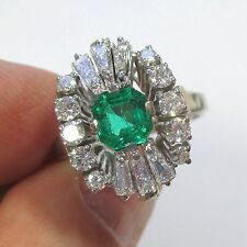 1081 - Exquister Unikat Ring 750 Weißgold Smaragd Brillanten Diamanten - 2072/38