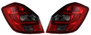 For Skoda Fabia Ii 2007+ Red / Smoke LED Rear Tail Lights Lamps Indicators Set