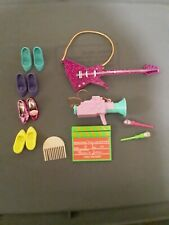 Jem Holograms Hasbro 1985 Accessories Instruments Lot Shoes Camera Guitar Brush