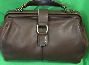 Vintage Coach Hudson Doctor Bag 100% Glove Tanned Leather Rare Collector's Purse
