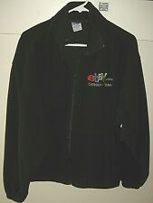 eBay (old logo) Category Team Black Fleece Zipper Jacket Size Large