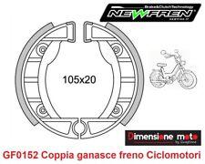 """0152 - Coppia Ganasce Freno Posteriori """"NEWFREN"""" per GARELLI Junior Turismo 50"""