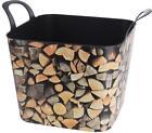 Flexible Plastic Wood Log Design Storage Log Basket Box With Handles