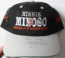 Chicago White Sox Minnie Minoso Signed Baseball's 7 Decades Hat Cap Autographed
