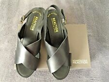 9154714dee Kenneth Cole Reaction Womens Log Cabin Heeled Sandals Size 9 1/2 Black