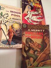 Sci Fi Lot A. MERRITT CLASSICS Sexy GGA DWELLERS IN THE MIRAGE, MOON POOL, FACE
