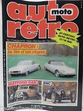 Revue AUTO RETRO moto magazine n° 69 - mai 1986 collection chapron matford bnc