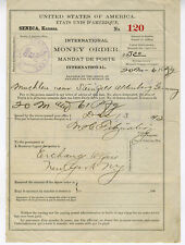 1892 International Money Order Receipt Seneca Kansas to Germany