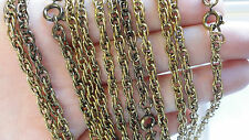 "Necklace Chains 24"" Rope 4mm Antique Hamilton Gold color Plated (pkg 12) 0395"