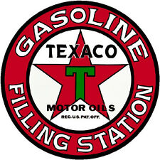 TEXACO FILLING STATION  VINYL STICKER (A1883) 4 INCH