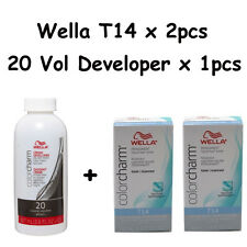 Wella Color Charm T14 Pale Ash Blonde 2-Pack with 20 vol Cream Developer