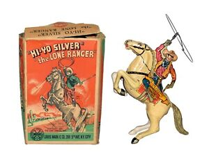 Nice Working Boxed Marx Tin Windup Lone Ranger - Worldwide Shipping