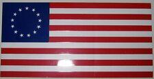 "5 pak of 4""X7"" Vinyl Sticker - ""Betsy Ross"" 13 Star U.S. Flag 100% American Made"