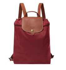 ec5e470b2184 NWT LONGCHAMP Le Pliage Nylon Foldable Backpack GARNET Red  125 TRAVEL  AUTHENTIC