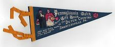 VINTAGE PENNANT Antique FELT Shartlesville Pennsylvania PENN DUTCH COUNTRY Haus