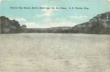 Texas, TX, Del Rio, Natural Dam Resort, Devil's River Early Postcard