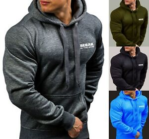 Hoodies Mens Gym Premium Sweatshirt i Phone Pocket BEBAK S-4XL 5XL