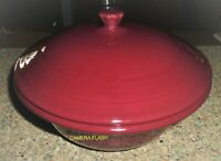 FIESTAWARE RETIRED CINNABAR COVERED CASSEROLE