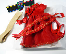 American Girl Pleasant Company Doll Clothes RED BERRY DRESS Shoes Barrette BOX!