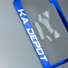 Powder Coated Candy Blue Customilze License Plate Laser Engraved Frame Suv Car