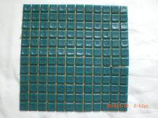 144 Dark Green Vitreous Glass Mosaic 20x20x4mm Tiles - One Sheet 250 x 250 mm
