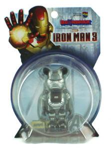 Marvel Medicom War Machine Bearbrick 100% Figure Be@rbrick Iron Man 3 New
