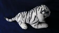 White Tiger  Plush Small Stuffed Animal Kids Baby Snuggle Toy Pre-owned