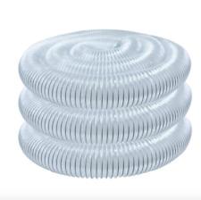 Powertec PVC Dust Collection Vacuum Hose 5 inch 20 ft Flexible Clear Woodworking
